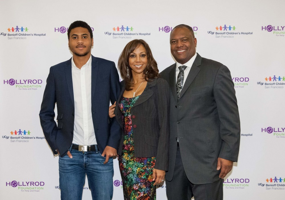 HollyRod founders Holly Robinson and Rodney Peete with son RJ.