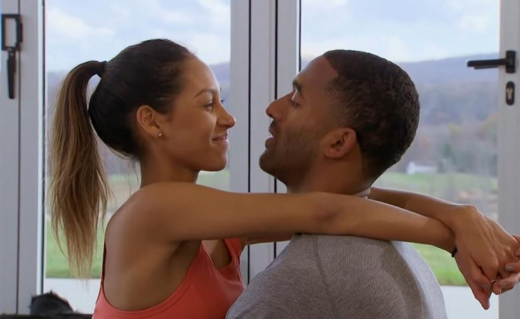 Serena P and Matt James tantric yoga one on one season 25 of the bachelor episode 7