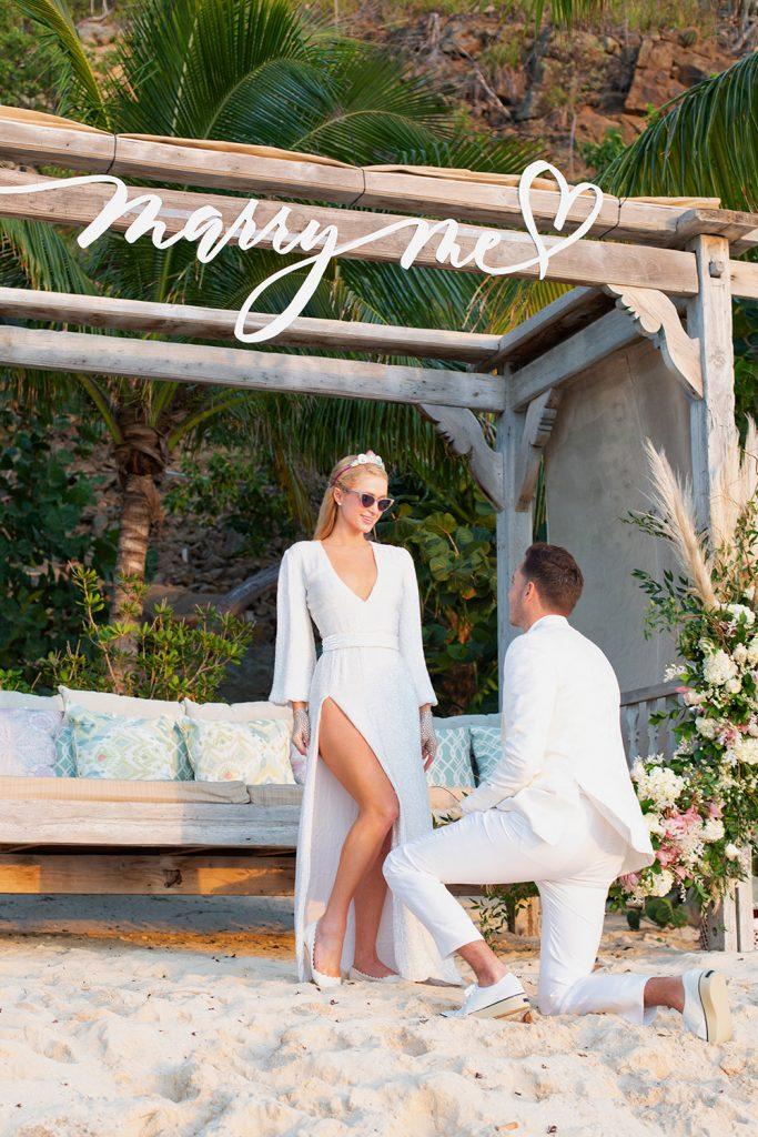 Paris Hilton and Carter Reum engagement photo announcement